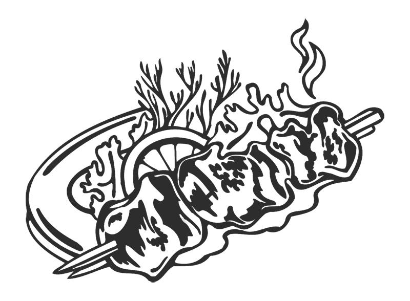 Шашлык картинка нарисованная